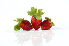 Strawberry. On a white background Stock Image
