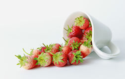 Strawberry. On the white background Royalty Free Stock Images