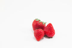 Strawberry. On white background Royalty Free Stock Photo