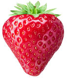 Strawberry on the white background. royalty free stock images