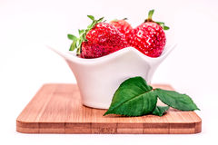Strawberry. On white background fresh and ready to eat Royalty Free Stock Image
