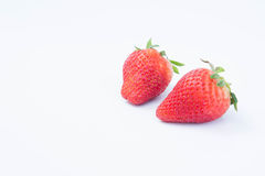Strawberry on white background fruit`s healthful cordial, useful imagem de stock royalty free