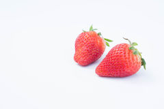 The Strawberry on white background fruit& x27;s healthful cordial, useful fotografia de stock royalty free