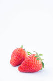 Strawberry on white background fruit`s healthful cordial, useful fotografia de stock royalty free