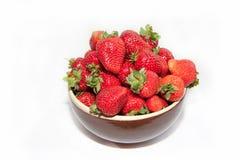 Strawberry on white background. Strawberry on plate on white background Stock Image