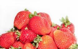 Strawberry on white background. Strawberry on plate on white background Royalty Free Stock Photo