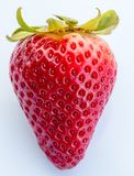 Strawberry White Background Shows Organic Products And Fruit Stock Photos
