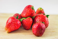 Strawberry  on white background. Stock Photos