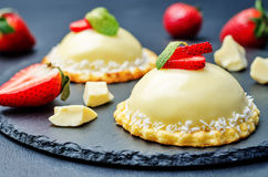 Strawberry white chocolate cream cheese mousse cake Stock Image