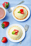 Strawberry white chocolate cream cheese mousse cake Stock Photography