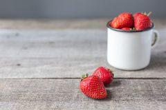 Strawberry in white cup Royalty Free Stock Images