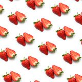 Strawberry on White royalty free stock images