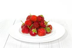 Strawberry in white plate Stock Image
