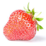 Strawberry  before white Stock Photos