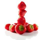 Strawberry on white reflexive background Stock Photography