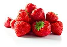 Strawberry on white reflexive background Stock Image