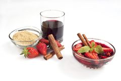 Strawberry wine Royalty Free Stock Photos
