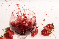 Strawberry and wine Royalty Free Stock Photo