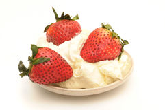 Strawberry With The Cream Royalty Free Stock Photography