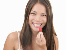 Strawberry woman Royalty Free Stock Image