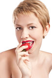 Strawberry woman Stock Photography