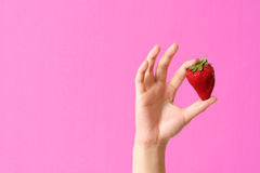 Strawberry and woman Royalty Free Stock Photography