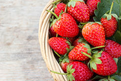Strawberry on wood background. Stock Photography