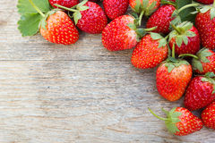 Strawberry on wood background. Royalty Free Stock Photos