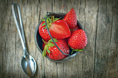 Strawberry on the  wood Royalty Free Stock Photo