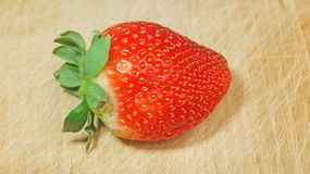 Strawberry on Wood Royalty Free Stock Image