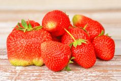 Strawberry on wooden background, DOF Royalty Free Stock Image