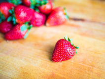 Strawberry on a wooden board. Fresh strawberry on a wooden board Stock Photos