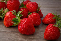 Strawberry on wooden Royalty Free Stock Photography