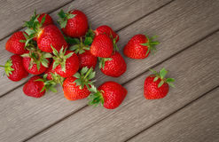 Strawberry on wooden Stock Image
