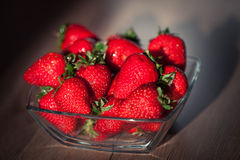 Strawberry. On wooden table Stock Images