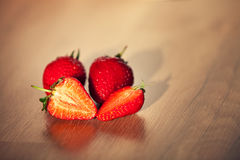 Strawberry. On wooden table Stock Photo
