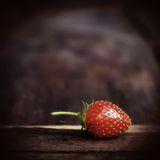 Strawberry on wooden table Royalty Free Stock Image
