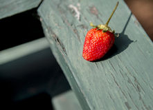 A Strawberry on the wooden1 Stock Images