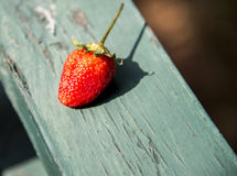 A Strawberry on the wooden2 Stock Photo