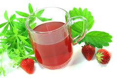 Strawberry-woodruff tea Stock Photography