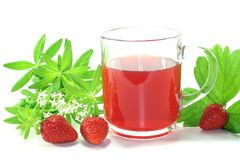 Strawberry-woodruff tea Stock Images