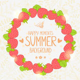 Strawberry wreath Royalty Free Stock Image