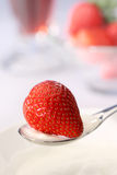 Strawberry and yoghurt Stock Photography