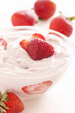 Strawberry yoghurt Royalty Free Stock Photos