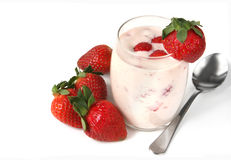 Strawberry Yoghurt Stock Photos