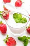 Strawberry yoghurt Stock Image
