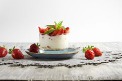 Strawberry Yoghurt and Muesli Royalty Free Stock Images