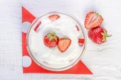 Strawberry yoghurt Royalty Free Stock Photo