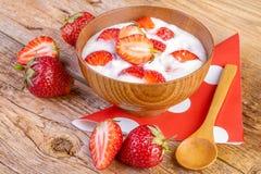 Strawberry Yoghurt Royalty Free Stock Photography