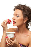 Strawberry yogurt Royalty Free Stock Image